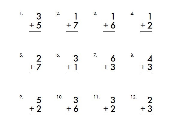 First grade worksheets math