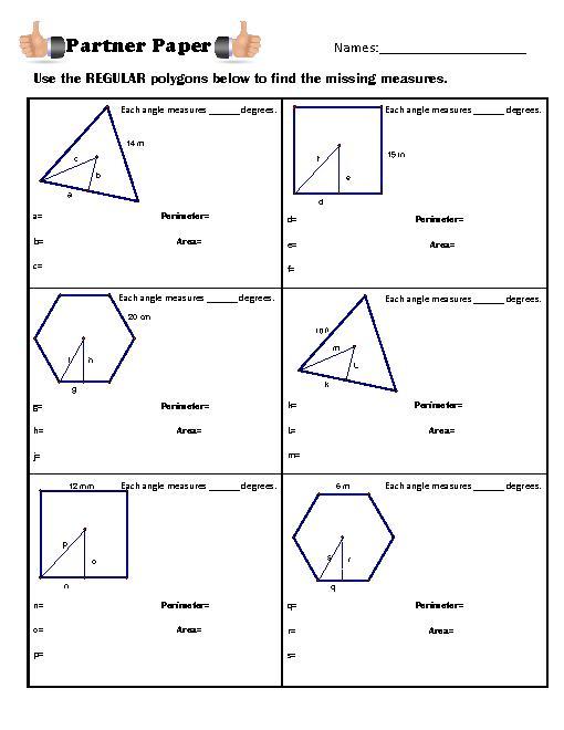 Area of a Regular Polygon | Create WebQuest