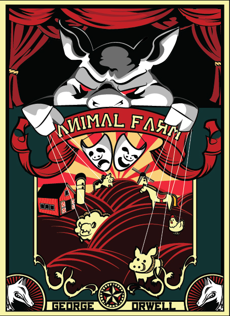 book report animal farm The book reminded me a little bit of orwell's ideas of social order gone crazy in his book animal farm in animal farm orwell has an animal exclaim that all animals are equal but some are more equal than others (orwell 88).