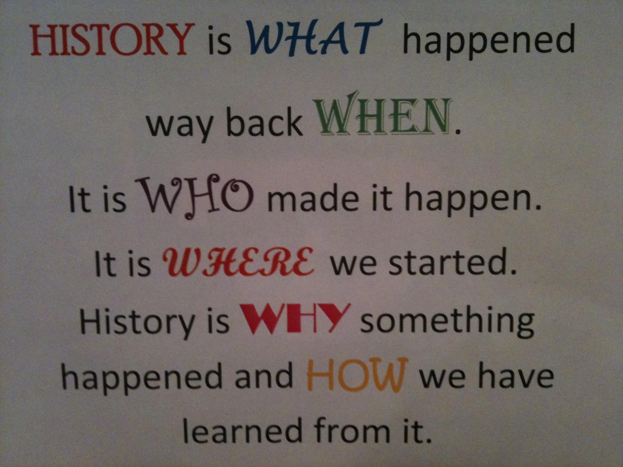 Importance of History | Create WebQuest