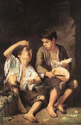 Bartolomé murillo (1617-1682) was the first spanish painter to become famous throughout Europe. Several of his early paintings feaured children from native Sevilla.