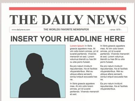 Creating a newspaper article   Create WebQuest