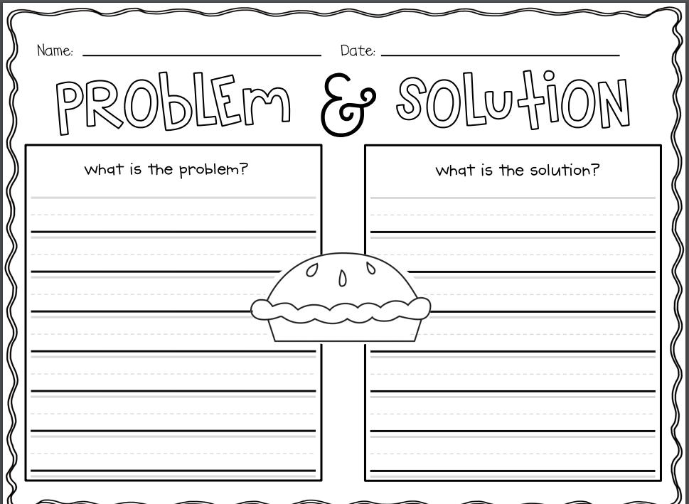 Problem And Solution Worksheet Vaydileforic